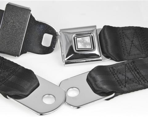 "Replacement Lap Belt With Chrome Push-Button Buckle (75"" Webbing)"