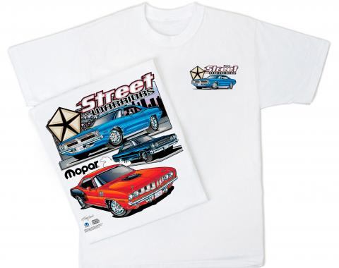 Mopar White T-Shirt, Street Warrior
