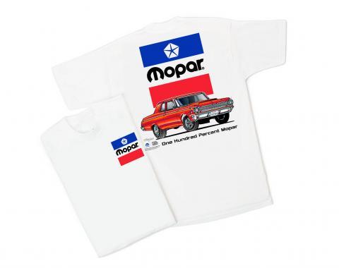 Mopar White T-Shirt, '64, One Hundred Percent