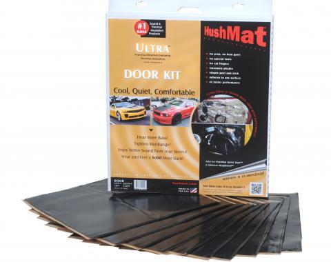 "HushMat Door Kit - Stealth Black Foil with Self-Adhesive Butyl-10 Sheets 12"" x 12"" ea 10 sq ft 10200"