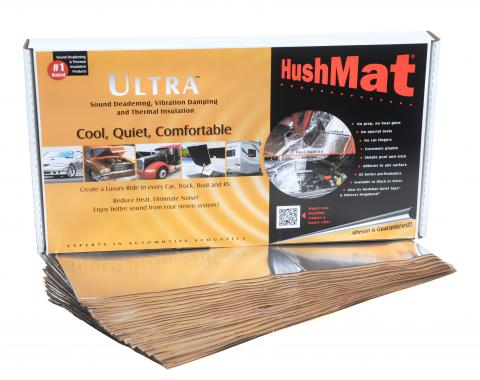 """HushMat Floor/Firewall Kit - Silver Foil with Self-Adhesive Butyl-20 Sheets 12"""" x 23"""" ea 38.7 sq ft 10401"""
