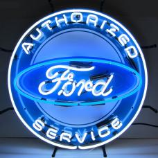 Neonetics Standard Size Neon Signs, Ford Authorized Service Neon Sign with Backing
