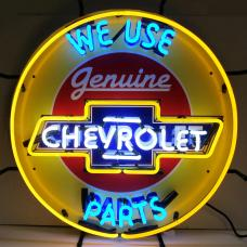 Neonetics Standard Size Neon Signs, Chevrolet Parts Neon Sign with Backing
