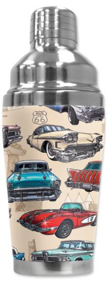 Mugzie Cocktail Shaker, Hot Or Cold, 50's Hot Rod
