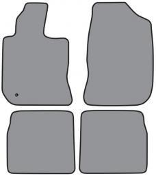 ACC  Chrysler PT Cruiser Floor Mat 4pc (FM211 FM211R) Cutpile, 2001-2010