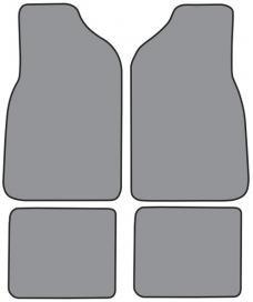 ACC  Chrysler LeBaron 2DR Convertible Floor Mat 4pc (CR34F FM18R) Cutpile, 1987-1995