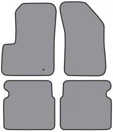 ACC  Chrysler 200 Floor Mat 4pc (P543 P543R) Cutpile, 2011-2013