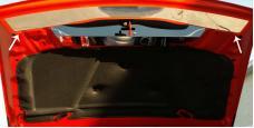 American Car Craft 2008-2014 Dodge Challenger Hood Plate Polished Plain Front 153004