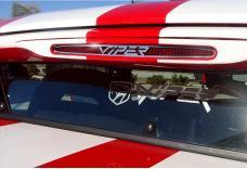 American Car Craft 1996-2002 Dodge Viper 3rd Brake Light Bezel Stainless Polished w/LOGO 962019