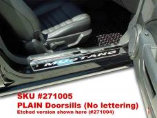American Car Craft Doorsills Polished w/ Satin Stainless Tops 4pc Plain 271005