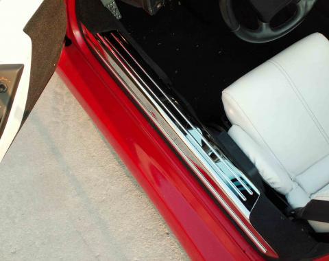 American Car Craft Doorsills Polished 2pc 021001