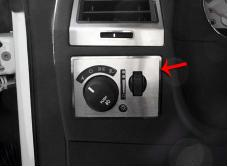 American Car Craft 2008-2014 Dodge Challenger Light Control Trim Plate Satin w/manual fog lights 151033