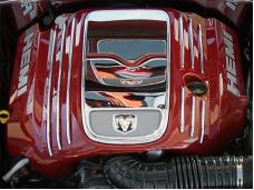 American Car Craft Engine Shroud Dress Up Kit Polished Hemi 5.7L 303001