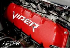 American Car Craft Valve Cover Lettering Stainless Polished 973017