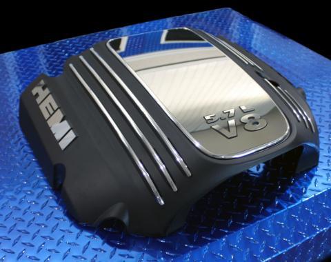 American Car Craft 2008-2019 Dodge Challenger Engine Shroud Trim Kit Polished 5.7L 153008