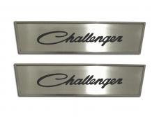 "American Car Craft 2008-2020 Dodge Challenger Door Badge Plate Satin ""Challenger Classic Script"" Laser Etched 151032"