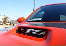 American Car Craft 2008-2014 Dodge Challenger Hood Scoop Grilles Billet Style 2pc 152012