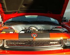 American Car Craft 2008-2019 Dodge Challenger Hemi Letters Set Only for Engine Shroud Trim Kit Polished 8pc 153009