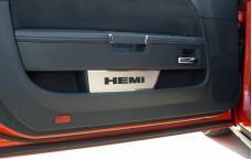"""American Car Craft 2008-2020 Dodge Challenger Door Badge Plate Satin """"HEMI"""" 151007"""