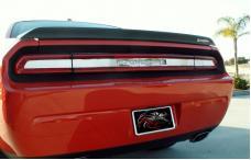 American Car Craft 2008-2014 Dodge Challenger Taillight Insert Trim Plate Satin 152006