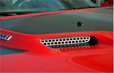 American Car Craft 2008-2014 Dodge Challenger Hood Scoop Grilles Overlay Style 2pc 152013