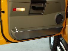American Car Craft Door Guards Front Satin 2pc 491005
