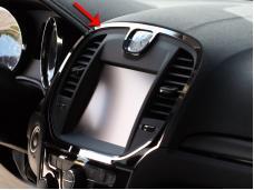 American Car Craft 2011-2013 Chrysler 300 Navigational Center A/C Vent Trim Ring 331022