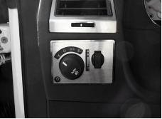 American Car Craft 2008-2014 Dodge Challenger Light Control Trim Plate Satin w/auto fog lights 151005