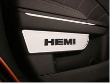 "American Car Craft Door Badges ""Hemi"" Front Satin 2pc 331007"
