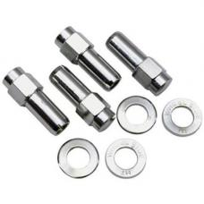 """Closed End Wheel Nut and Washer 1/2"""" for Draglite, Rodlite, Prostar Wheels, Set of 4"""