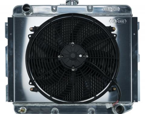 Cold Case Radiators 68-73 B,C,E Body BB Aluminum Performance Radiator And 16 Inch Fan Kit MT 16x22.75 Inch MOP752K