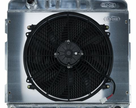 Cold Case Radiators 70-72 A,B Body SB Aluminum Performance Radiator And 16 Inch Fan Kit MT 17x22 Inch MOP755K