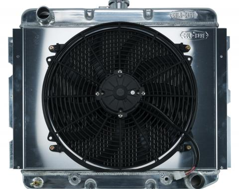 Cold Case Radiators 68-73 B,C,E Body BB Aluminum Performance Radiator And 16 Inch Fan Kit AT 16x22.75 Inch MOP752AK