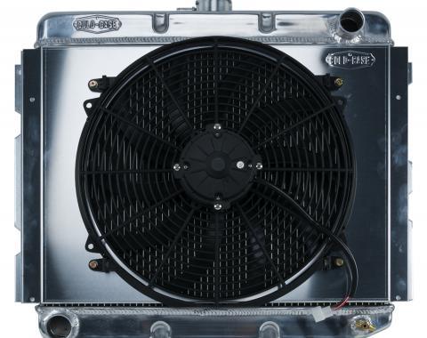 Cold Case Radiators 68-73 B,E Body BB Aluminum Performance Radiator And Fan Kit 16 Inch x 22 Inch MT MOP753K