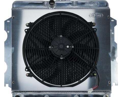 Cold Case Radiators 62-74 A,B,C,E Body SB Aluminum Performance Radiator And 16 Inch Fan Kit MT 18x22 Inch MOP751K