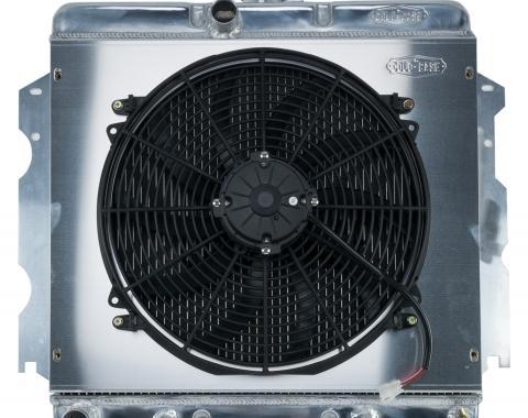 Cold Case Radiators 62-74 A,B,C,E Body SB Aluminum Performance Radiator And 16 Inch Fan Kit AT 18x22 Inch MOP751AK