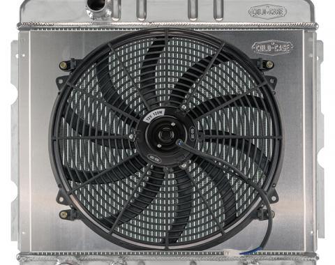 Cold Case Radiators 67-69 Mopar A-Body BB Aluminum Performance Radiator with 16 Inch Fan Kit MOP756A-5K