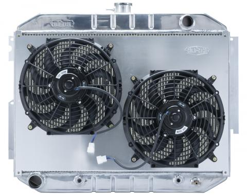 Cold Case Radiators 66-70 Mopar C Body 26X17.5 AT Performance Radiator and Dual Fan Kit MOP757AK