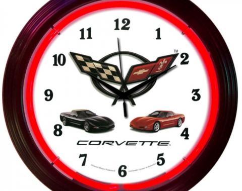 Neonetics Neon Clocks, Corvette C5 Neon Clock