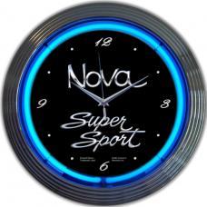 Neonetics Neon Clocks, Gm Chevy Nova Neon Clock