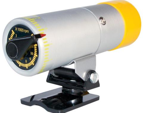 Proform RPM Shift Light, Stand Alone Adjustable Model, Silver Body with Yellow Cover 67005SC