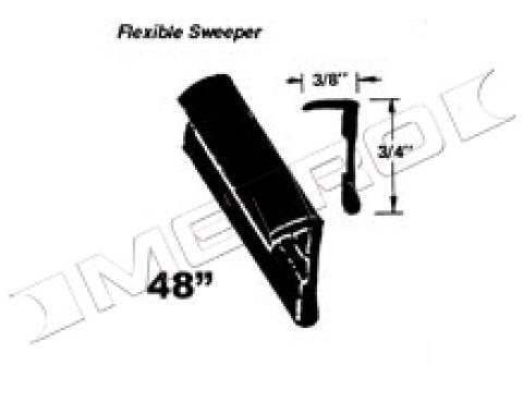"""Flexible Window Sweeper, Outside of Window, 48"""" Long, 1954-1964"""