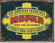 Tin Sign, Mopar Logo '37 - '47