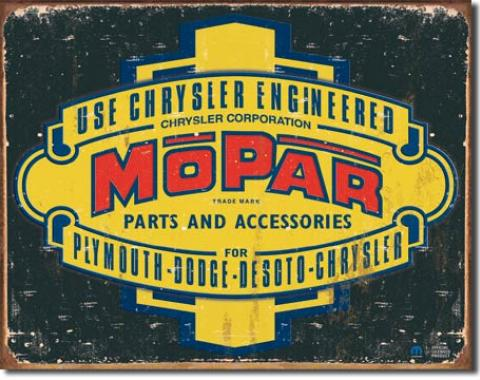 Tin Sign, Mopar Logo '37 - '47