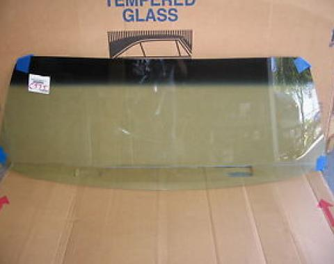 Dodge Challenger, Plymouth Barracuda Windshield Glass, 2 Door Hardtop & Convertible, 1970-1974 | Tinted