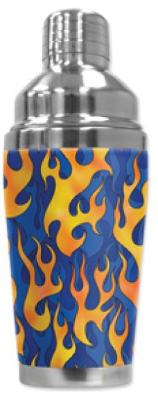 Mugzie Cocktail Shaker, Hot Or Cold, Blue Flames