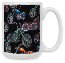 Choppers & Skulls Black Coffee Mug