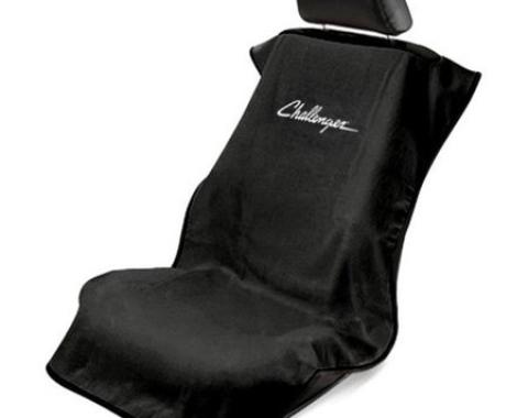 Seat Armour Challenger Seat Towel, Black with Script SA100CHLB