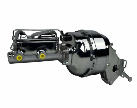 """Right Stuff Upper Assembly with Chrome Booster, 1.0625"""" Bore, Valve, Lines and Brackets J800110"""