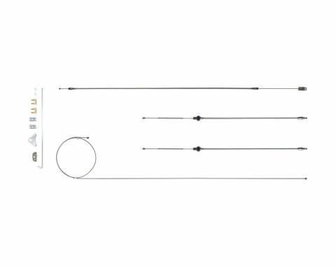 Right Stuff 67 - 74 A Body w/ Intermediate E-Brake Cable Set; 108; Wheelbase; Stainless RSBCY04S